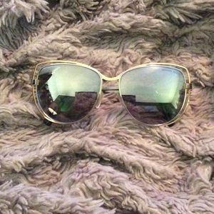 Michael Kors mirrored gold and silver sunglasses